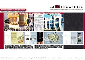 Innenseite eines Exposés für Ihr individuelles Immobilienprojekt