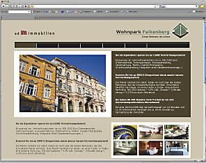 Objektorientierter Internetauftritt für Immobilienprojekte